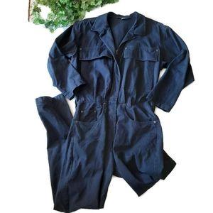 SEATTLE GEAR retro 90's cord navy jumpsuit
